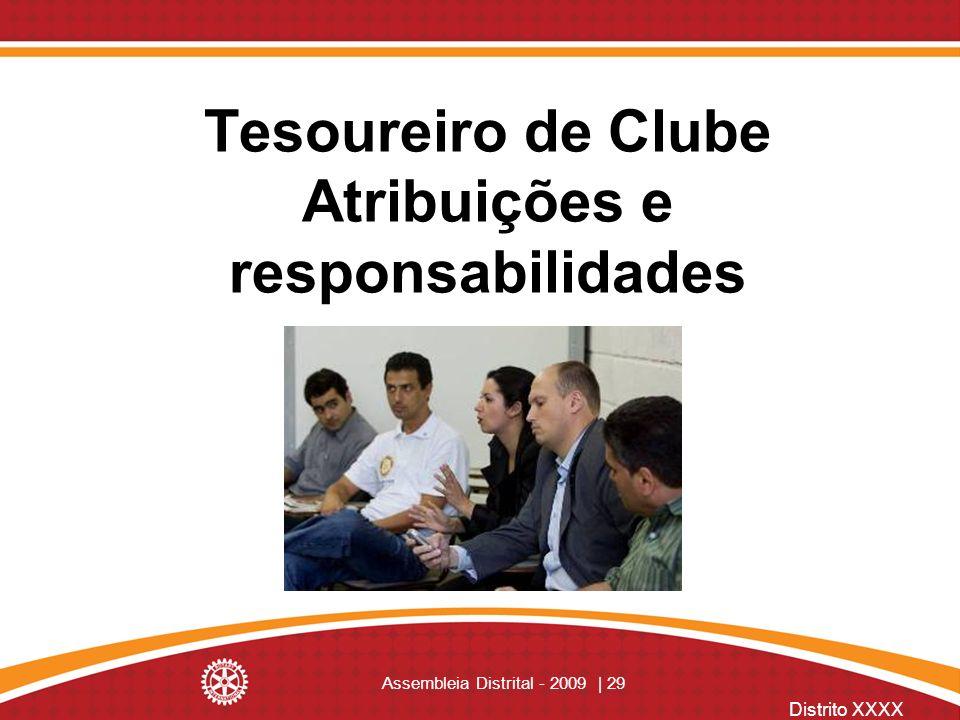 Tesoureiro de Clube Atribuições e responsabilidades