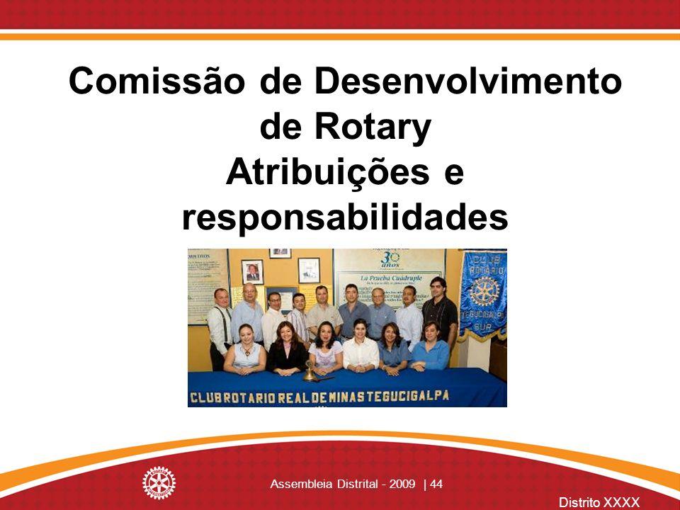 Comissão de Desenvolvimento de Rotary Atribuições e responsabilidades