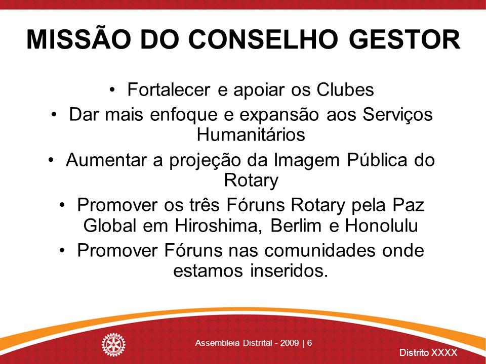 MISSÃO DO CONSELHO GESTOR