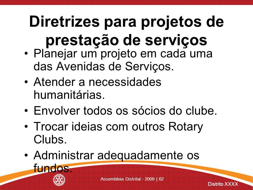 Diretrizes para projetos de prestação de serviços