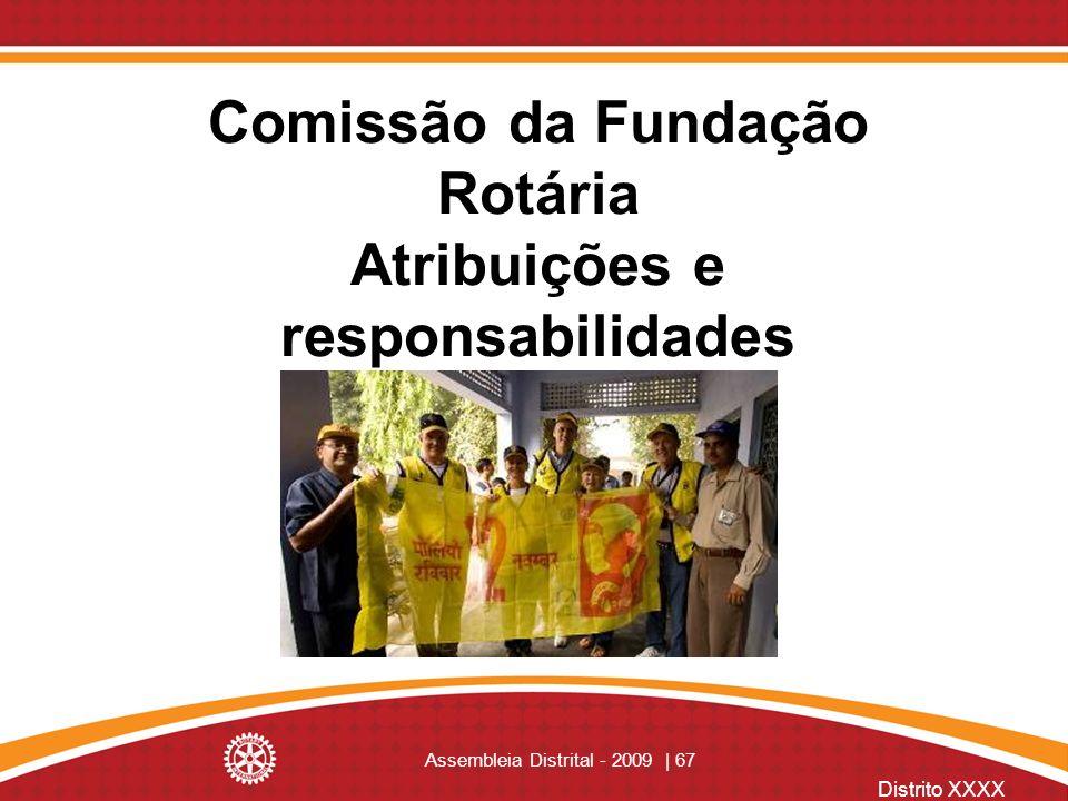 Comissão da Fundação Rotária Atribuições e responsabilidades