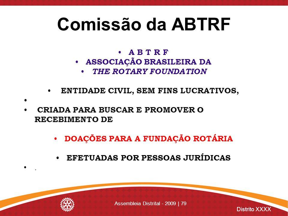 Comissão da ABTRF A B T R F ASSOCIAÇÃO BRASILEIRA DA