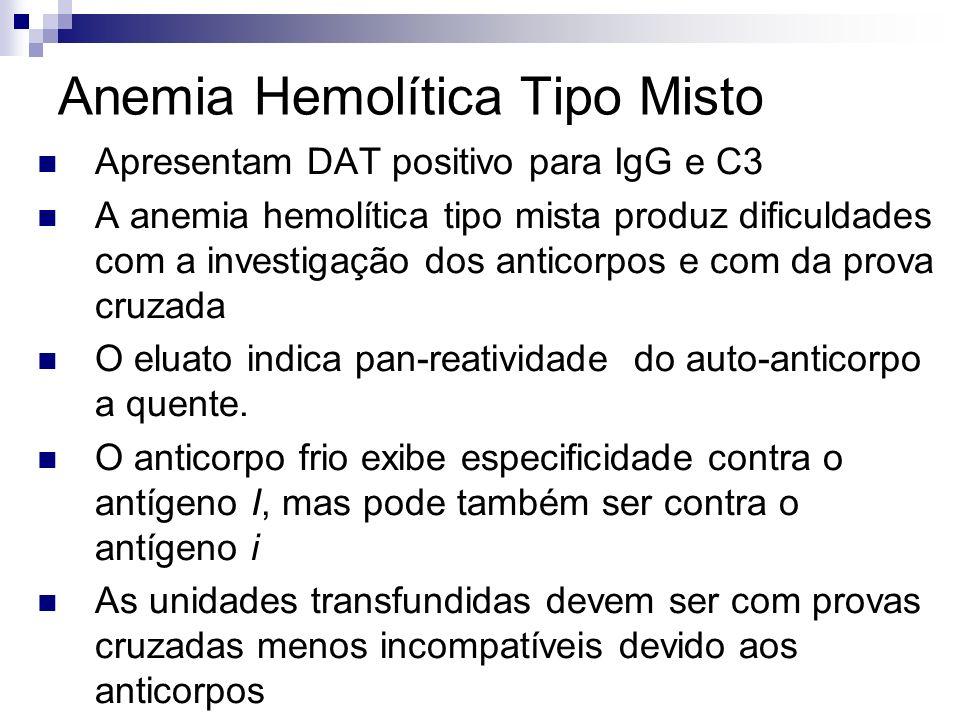 Anemia Hemolítica Tipo Misto