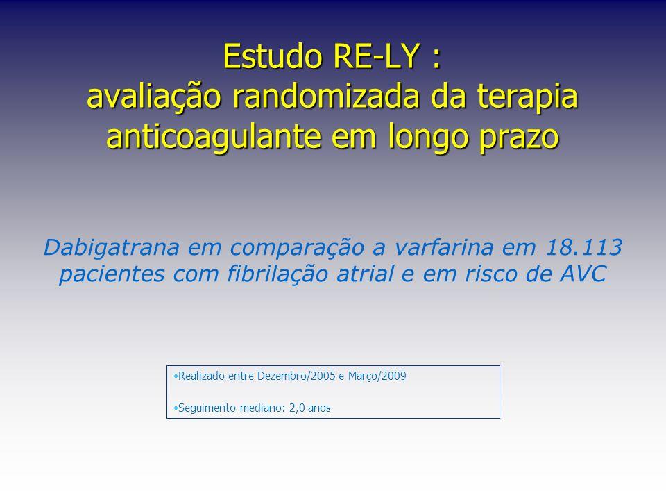Estudo RE-LY : avaliação randomizada da terapia anticoagulante em longo prazo