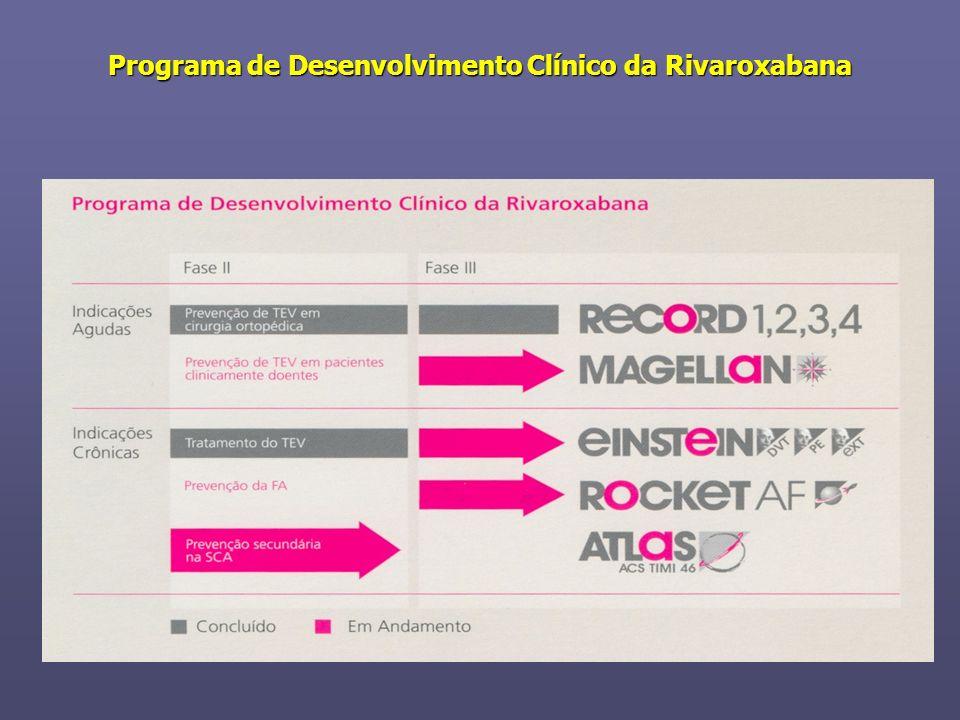 Programa de Desenvolvimento Clínico da Rivaroxabana