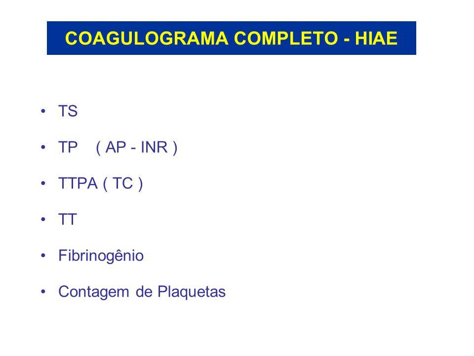 COAGULOGRAMA COMPLETO - HIAE