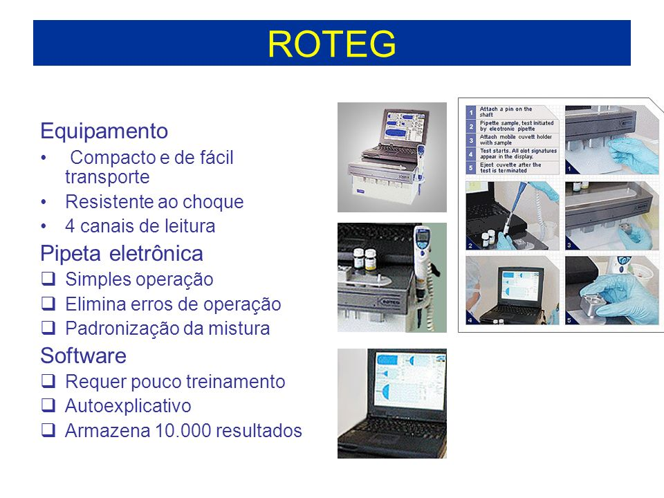ROTEG Equipamento Pipeta eletrônica Software