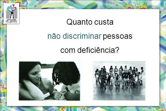 não discriminar pessoas