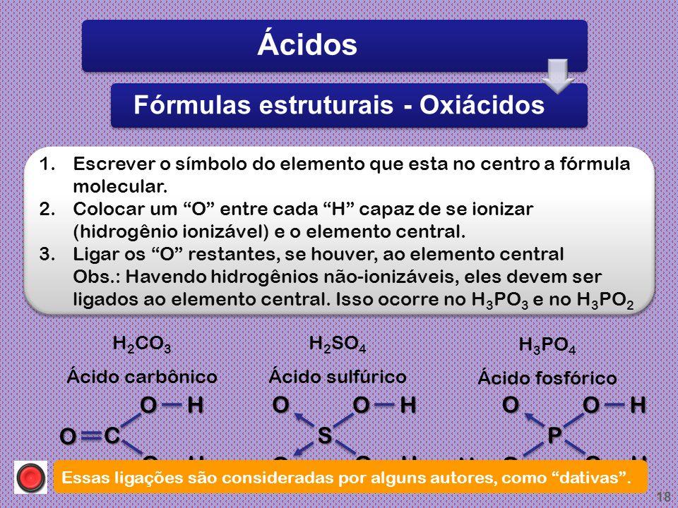 Fórmulas estruturais - Oxiácidos