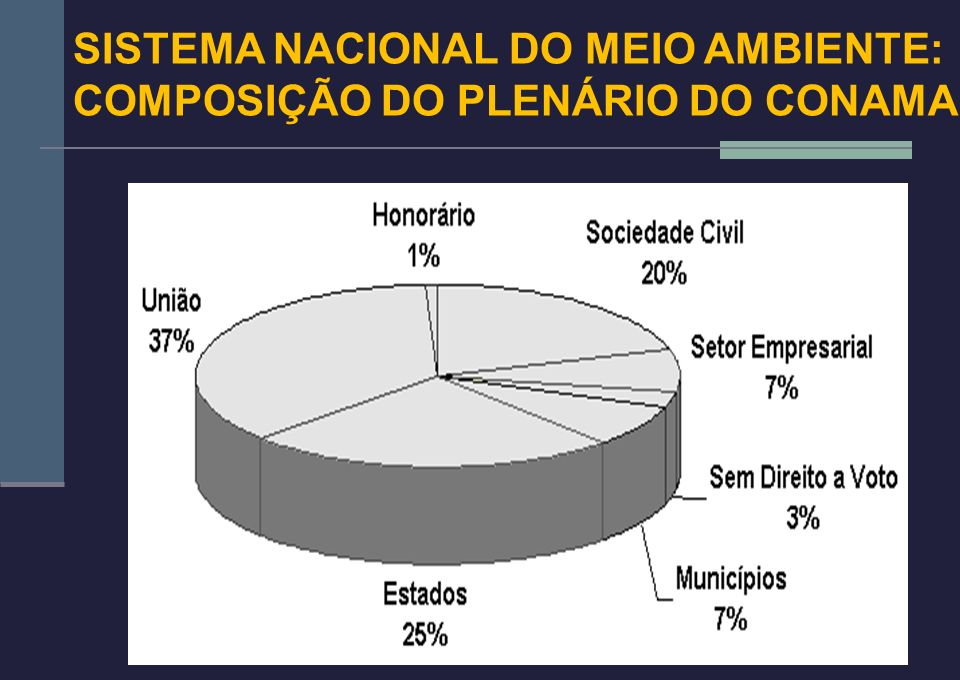 SISTEMA NACIONAL DO MEIO AMBIENTE: