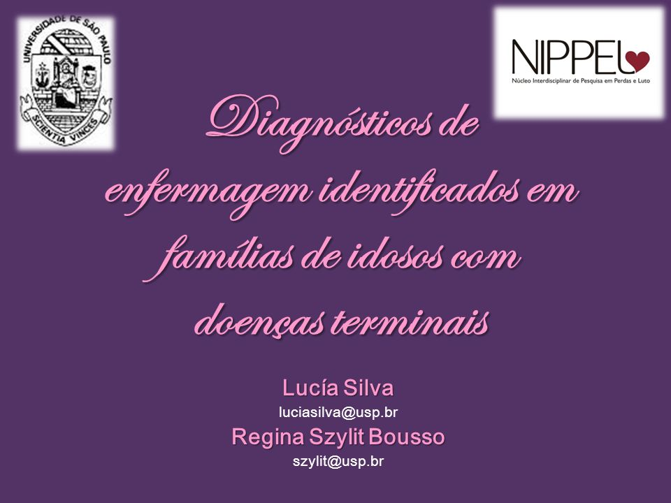 Diagnósticos de enfermagem identificados em famílias de idosos com doenças terminais