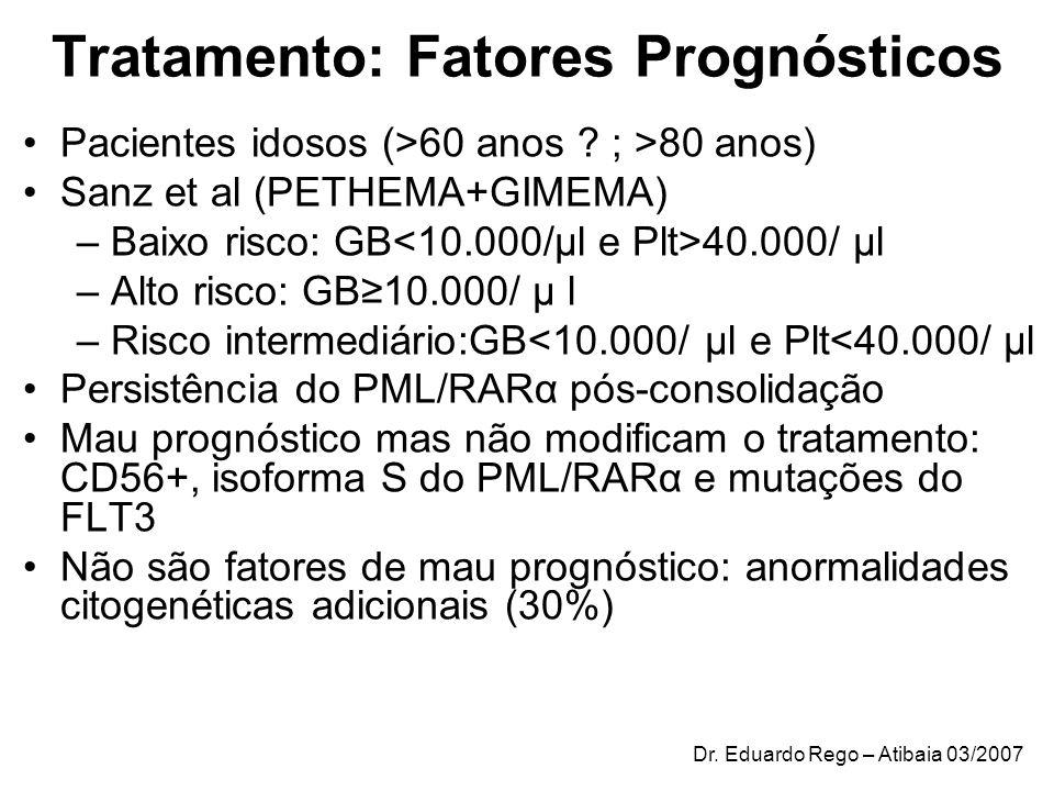 Tratamento: Fatores Prognósticos