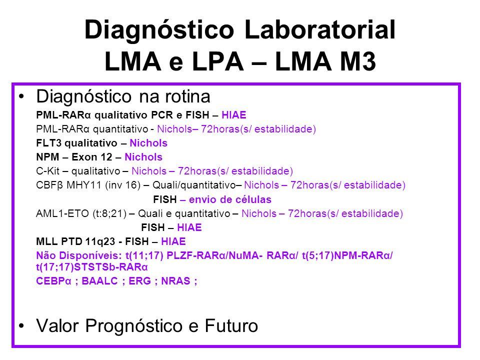 Diagnóstico Laboratorial LMA e LPA – LMA M3