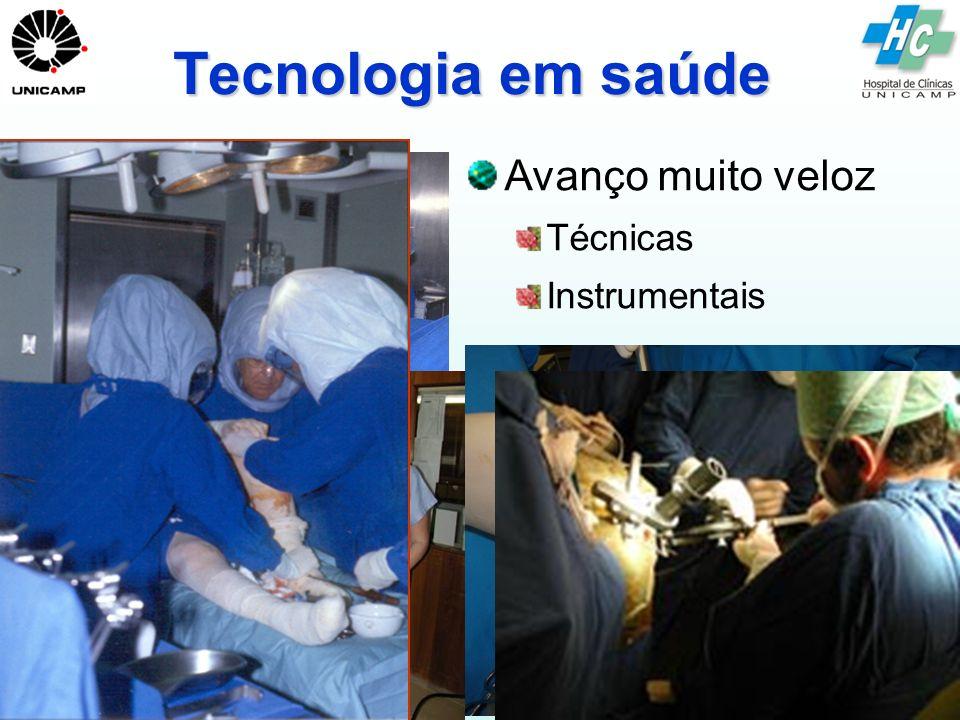 Tecnologia em saúde Avanço muito veloz Técnicas Instrumentais