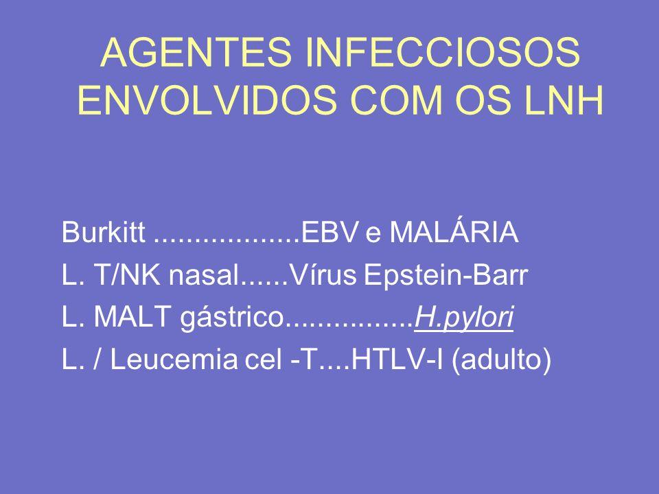 AGENTES INFECCIOSOS ENVOLVIDOS COM OS LNH