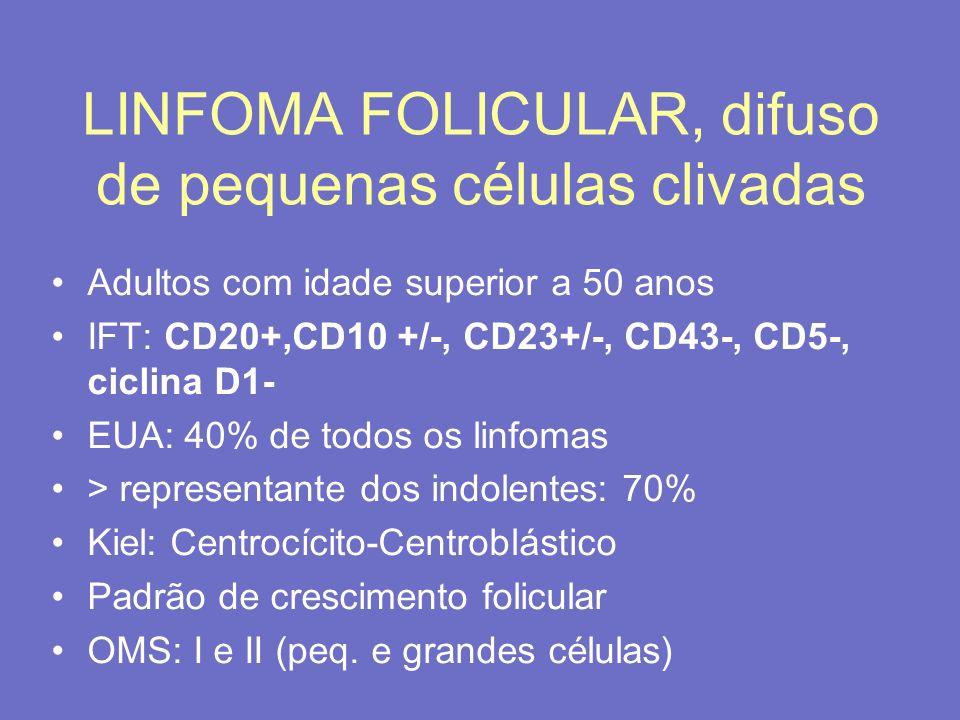 LINFOMA FOLICULAR, difuso de pequenas células clivadas