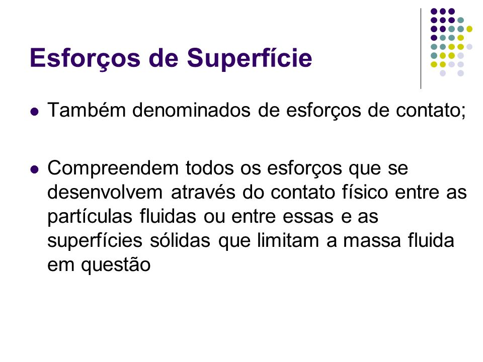 Esforços de Superfície