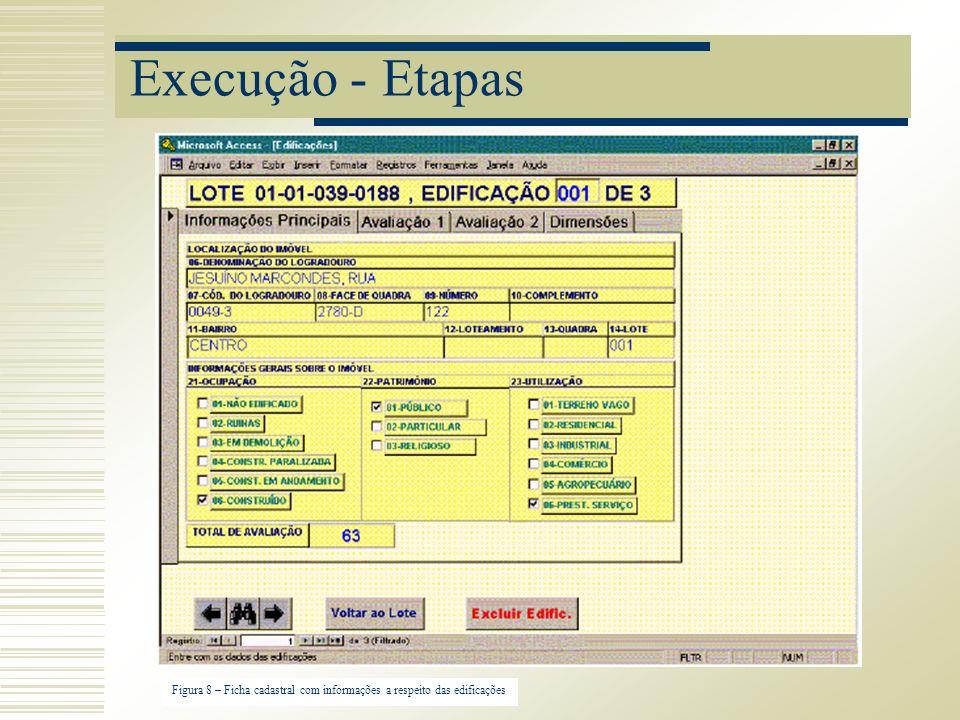 Execução - Etapas Figura 8 – Ficha cadastral com informações a respeito das edificações
