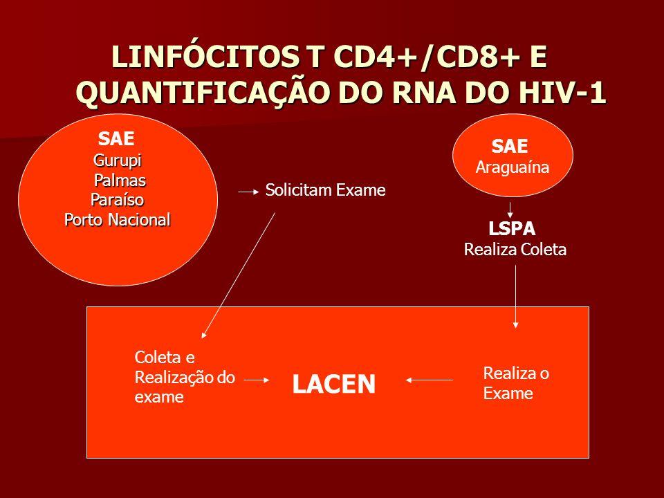 LINFÓCITOS T CD4+/CD8+ E QUANTIFICAÇÃO DO RNA DO HIV-1