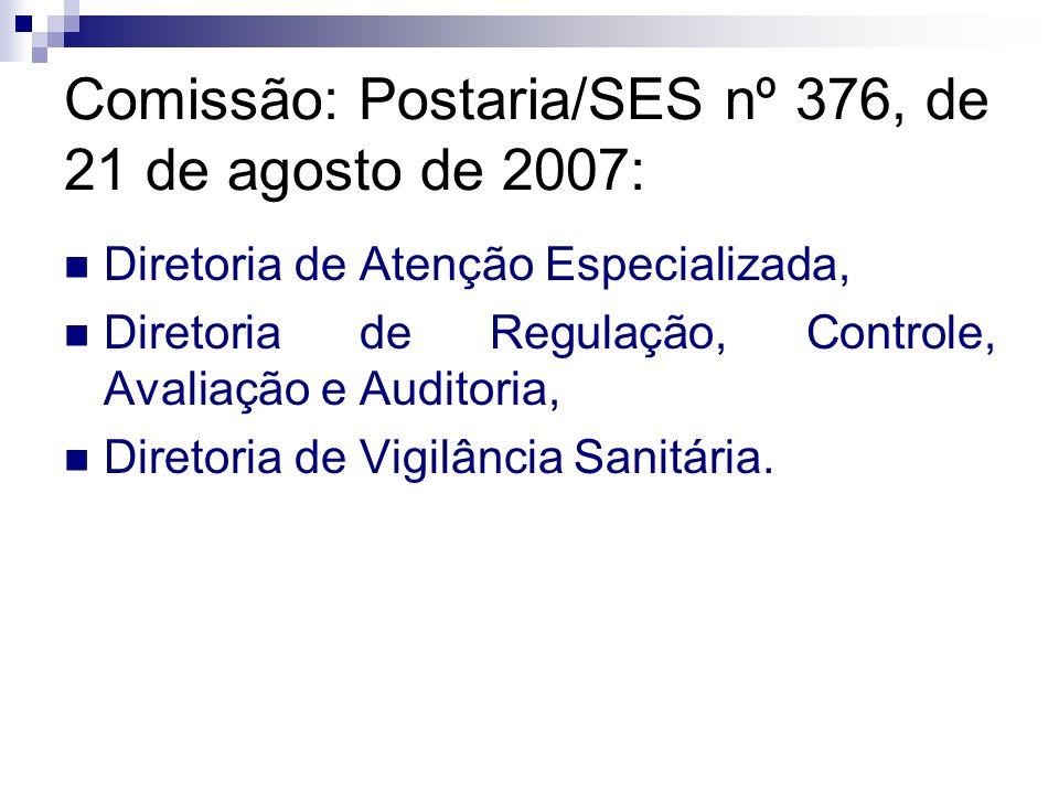 Comissão: Postaria/SES nº 376, de 21 de agosto de 2007: