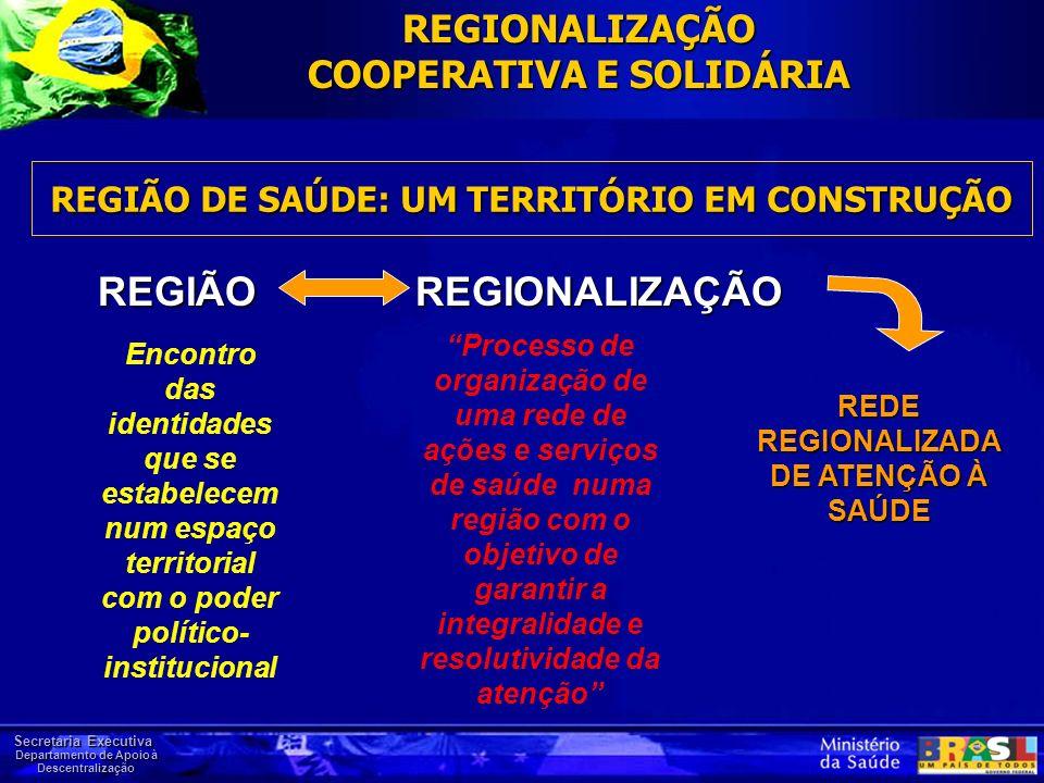 REGIÃO DE SAÚDE: UM TERRITÓRIO EM CONSTRUÇÃO