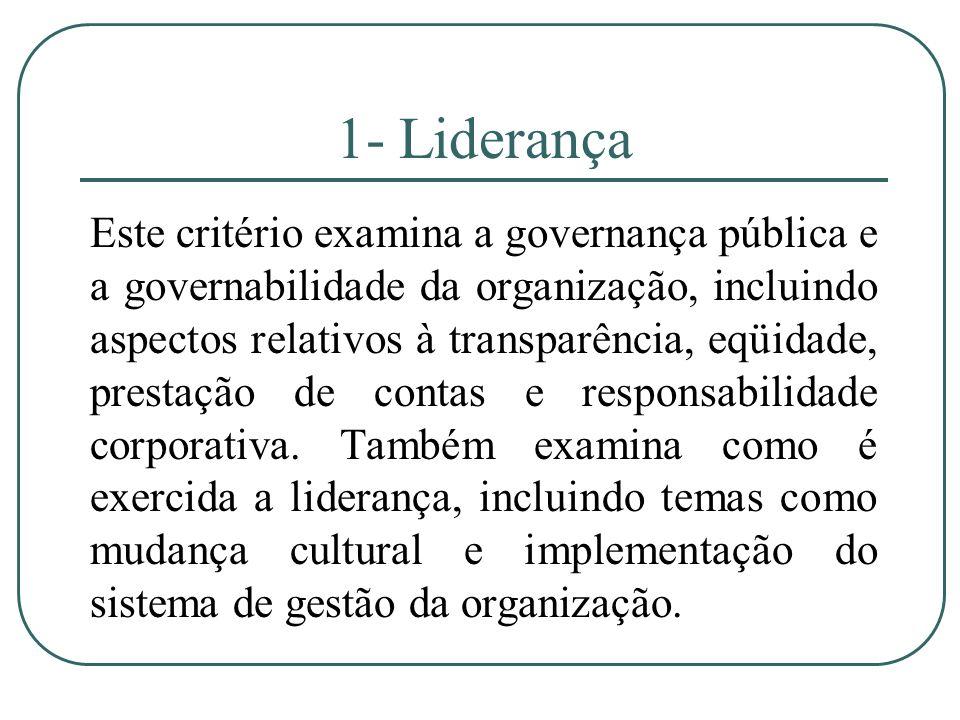 1- Liderança