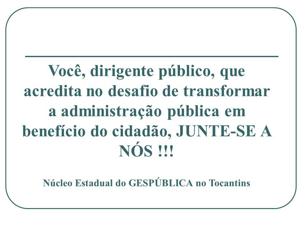 Núcleo Estadual do GESPÚBLICA no Tocantins