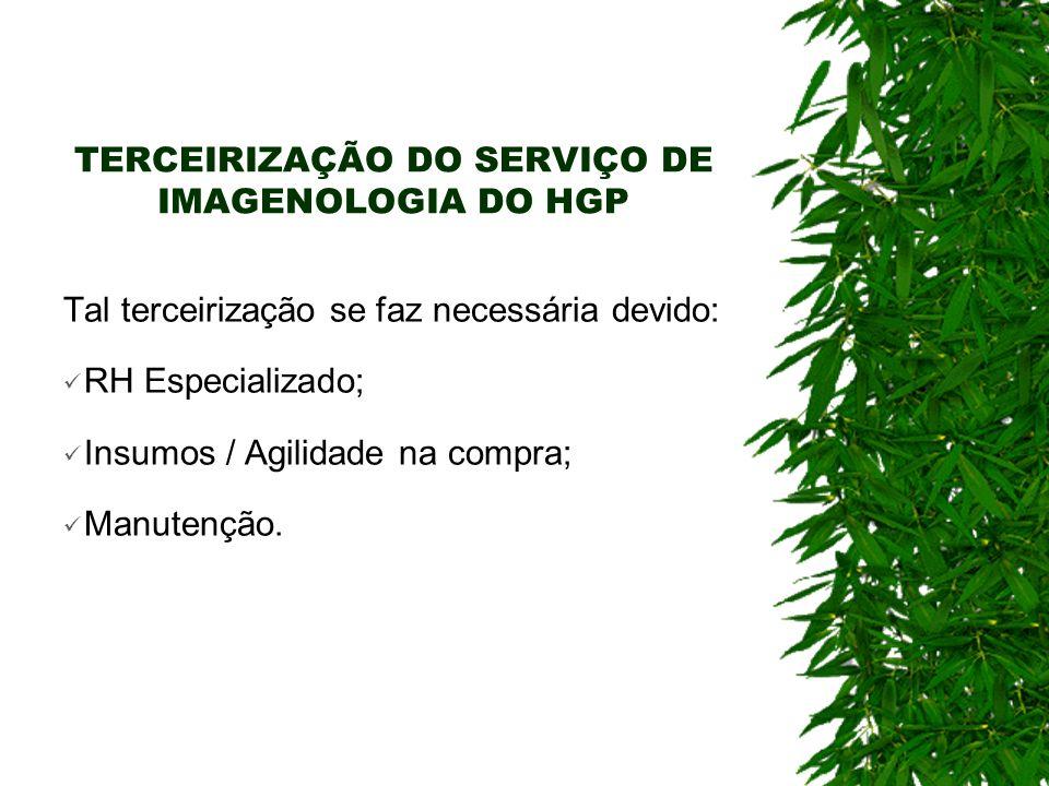 TERCEIRIZAÇÃO DO SERVIÇO DE IMAGENOLOGIA DO HGP