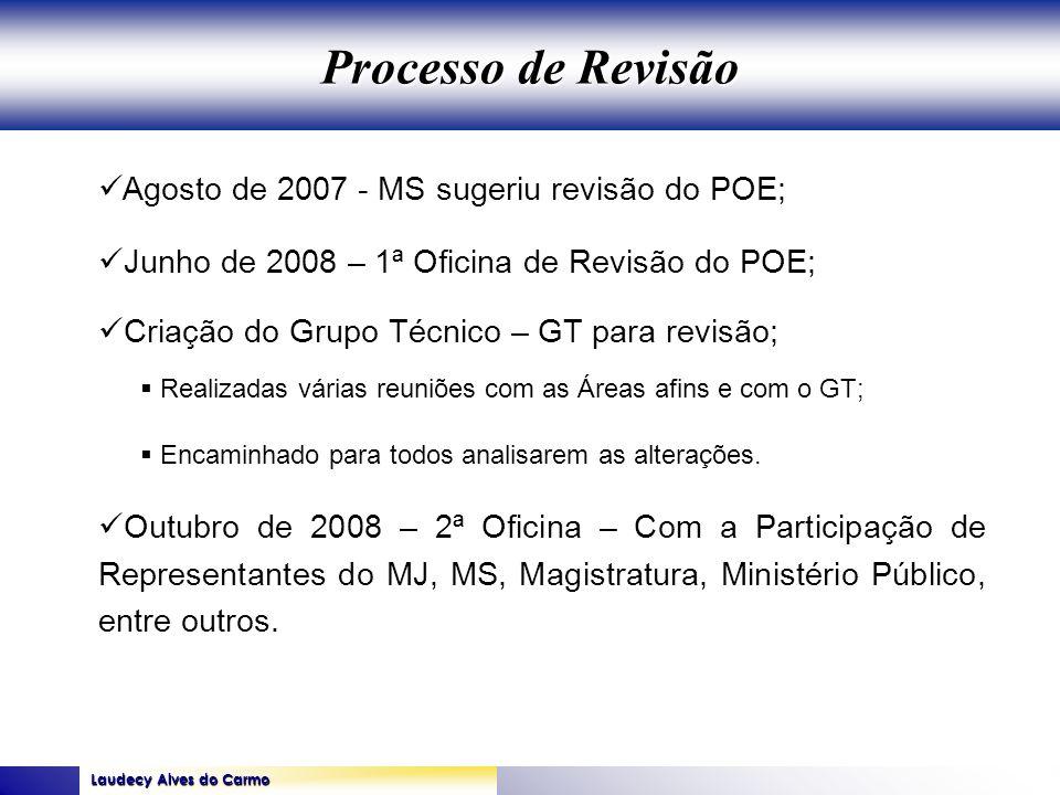 Processo de Revisão Agosto de 2007 - MS sugeriu revisão do POE;