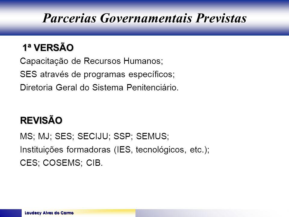 Parcerias Governamentais Previstas