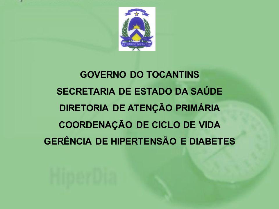 SECRETARIA DE ESTADO DA SAÚDE DIRETORIA DE ATENÇÃO PRIMÁRIA