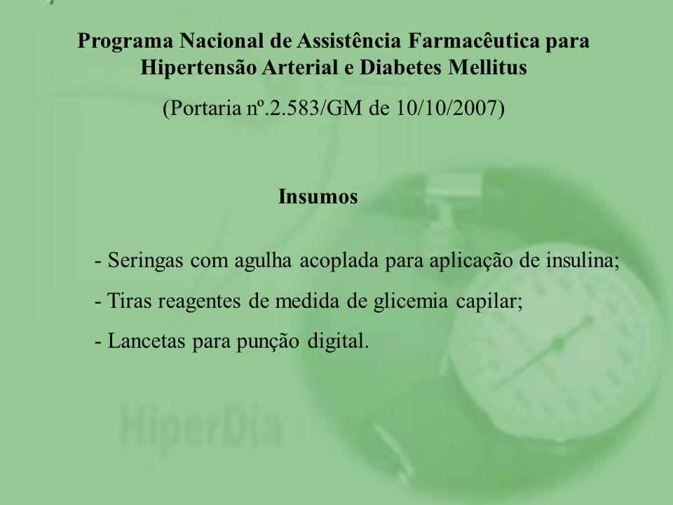 Programa Nacional de Assistência Farmacêutica para Hipertensão Arterial e Diabetes Mellitus
