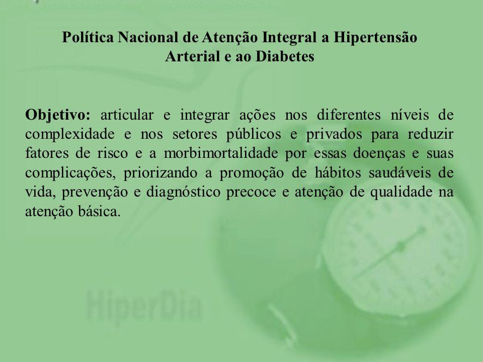 Política Nacional de Atenção Integral a Hipertensão Arterial e ao Diabetes