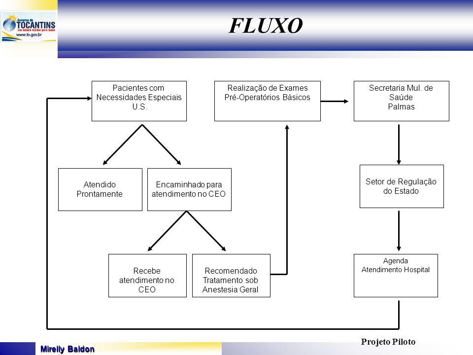 FLUXO Projeto Piloto Pacientes com Necessidades Especiais U.S.