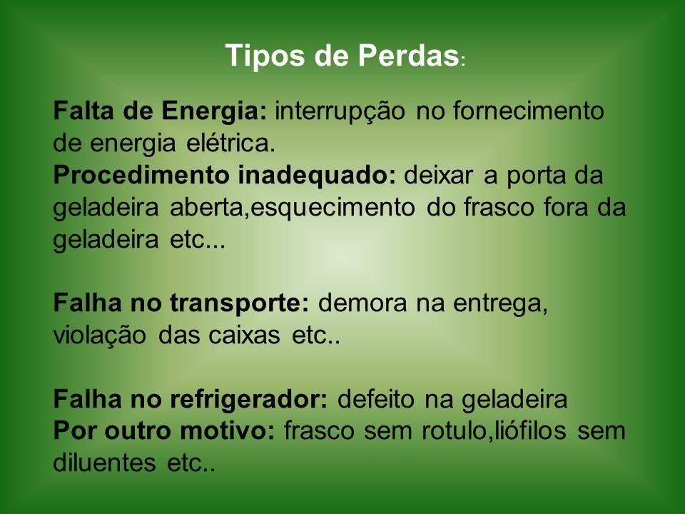 Tipos de Perdas: Falta de Energia: interrupção no fornecimento de energia elétrica.