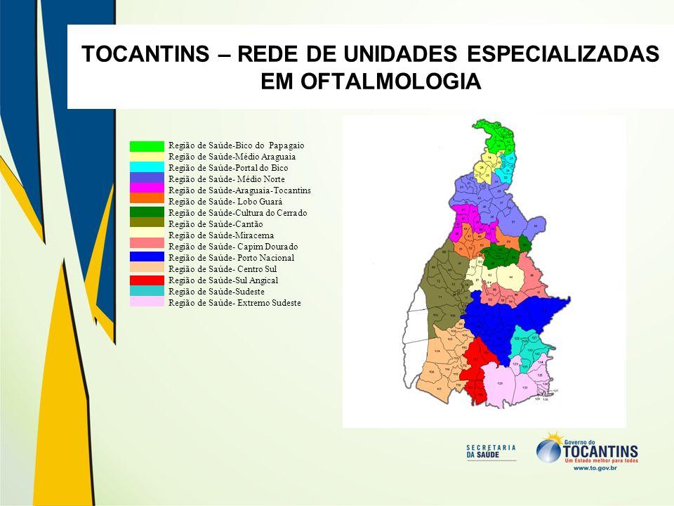 TOCANTINS – REDE DE UNIDADES ESPECIALIZADAS EM OFTALMOLOGIA