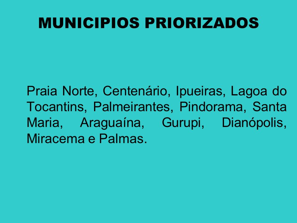 MUNICIPIOS PRIORIZADOS