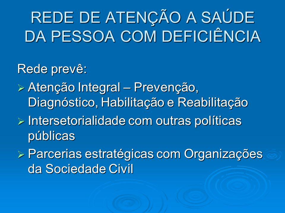 REDE DE ATENÇÃO A SAÚDE DA PESSOA COM DEFICIÊNCIA