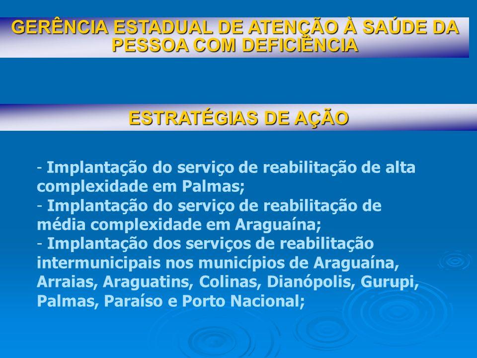 GERÊNCIA ESTADUAL DE ATENÇÃO À SAÚDE DA PESSOA COM DEFICIÊNCIA