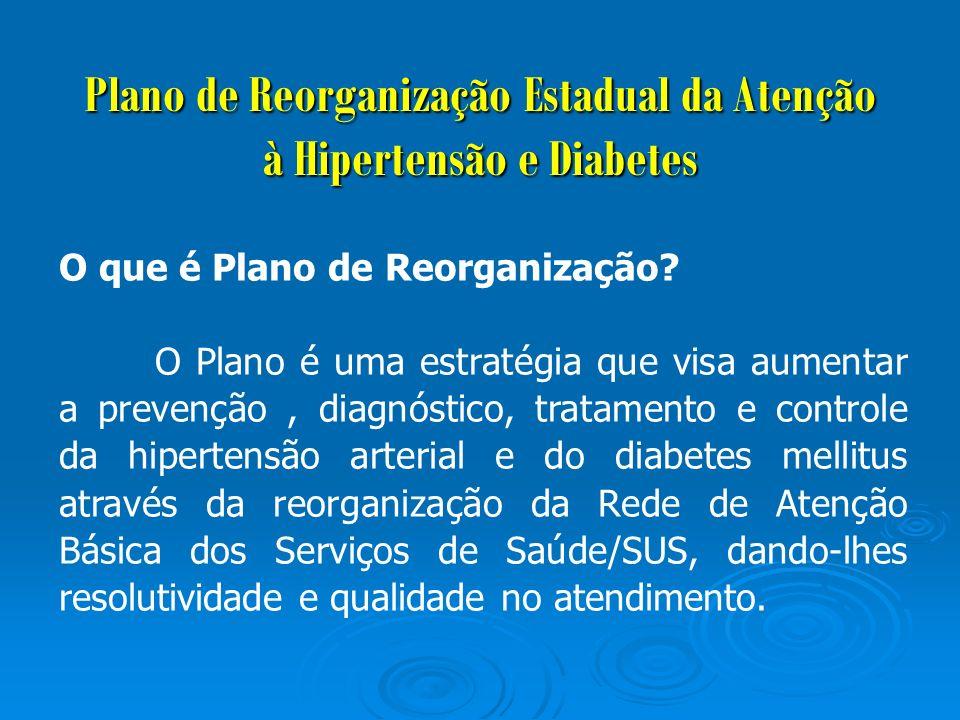 Plano de Reorganização Estadual da Atenção à Hipertensão e Diabetes