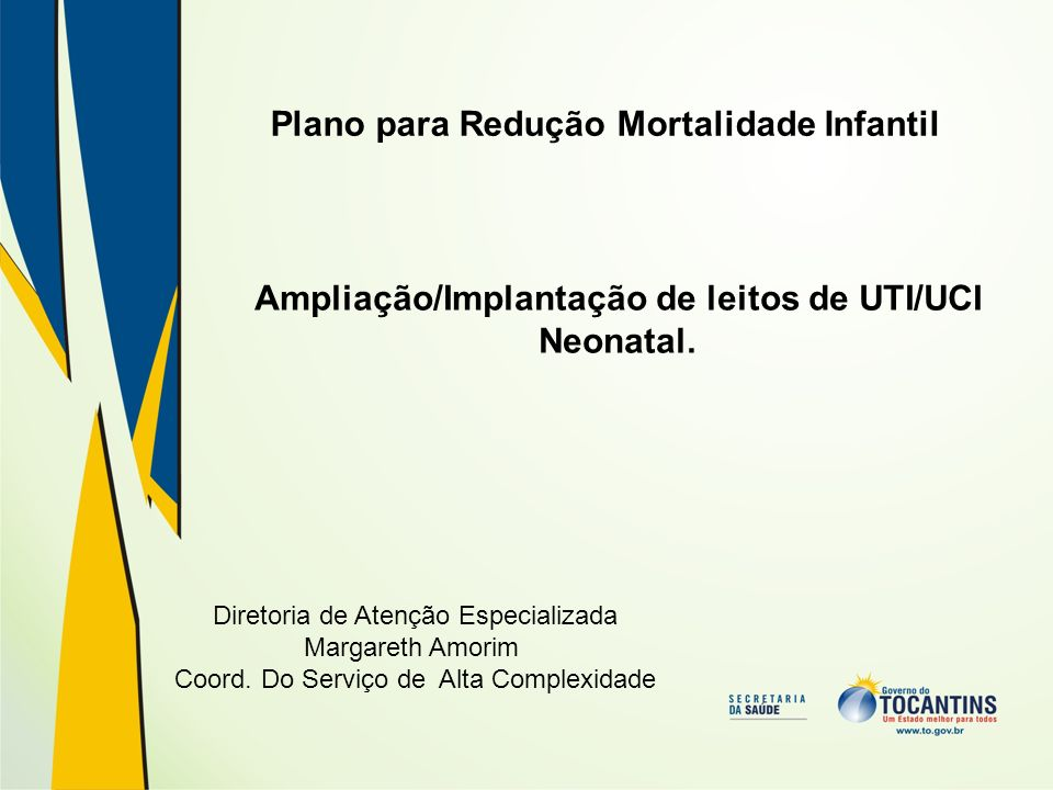 Plano para Redução Mortalidade Infantil
