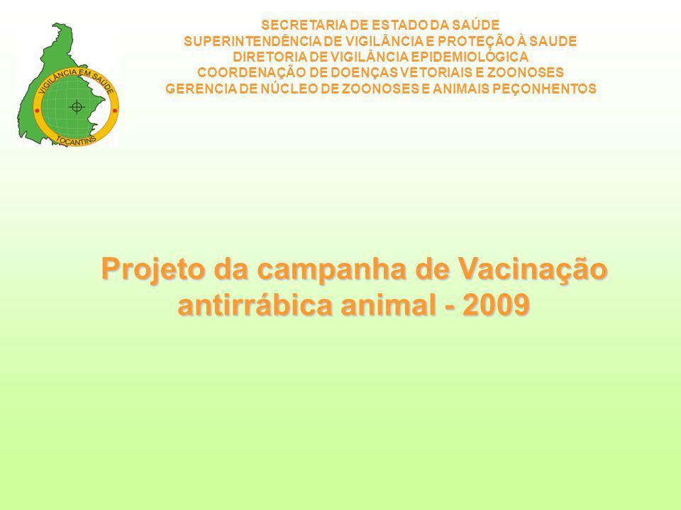 Projeto da campanha de Vacinação antirrábica animal - 2009
