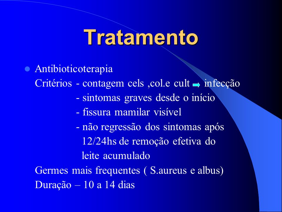 Tratamento Antibioticoterapia