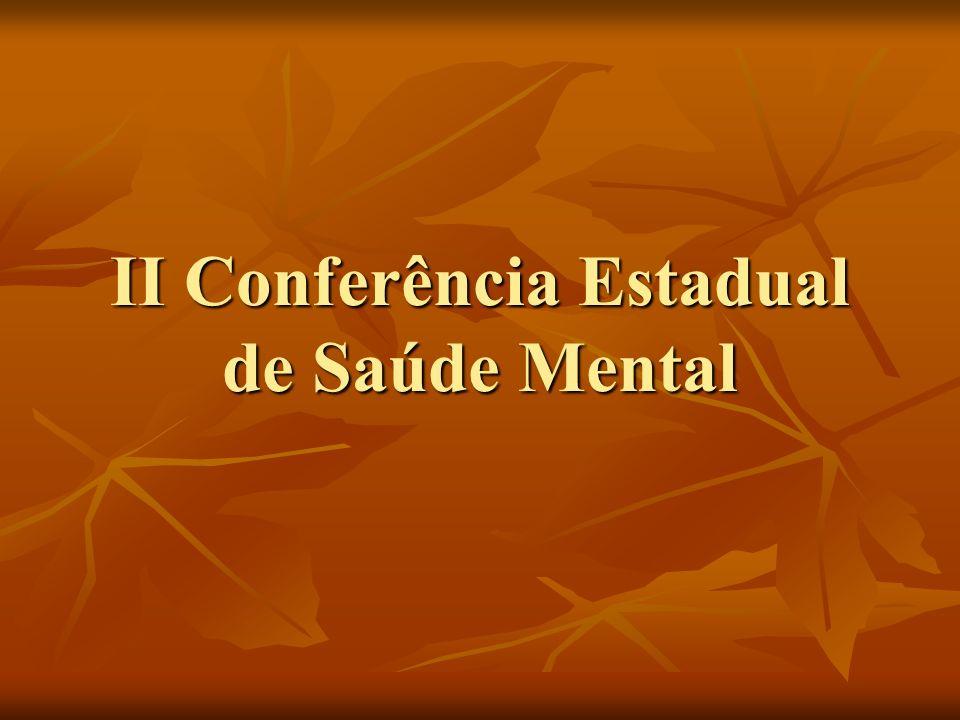 II Conferência Estadual de Saúde Mental
