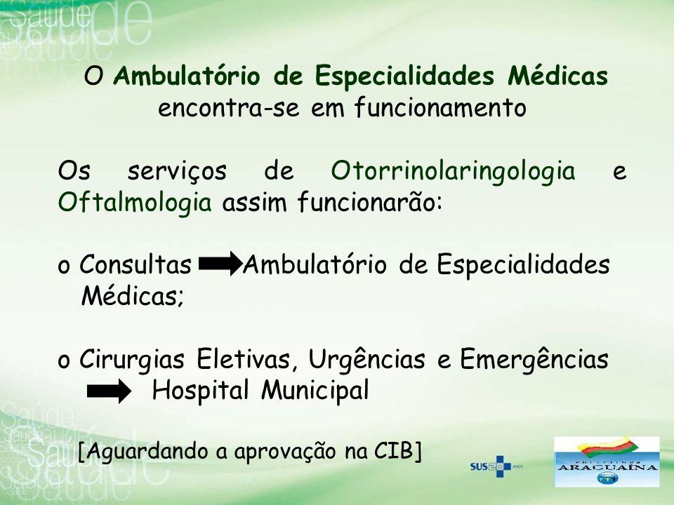 O Ambulatório de Especialidades Médicas encontra-se em funcionamento