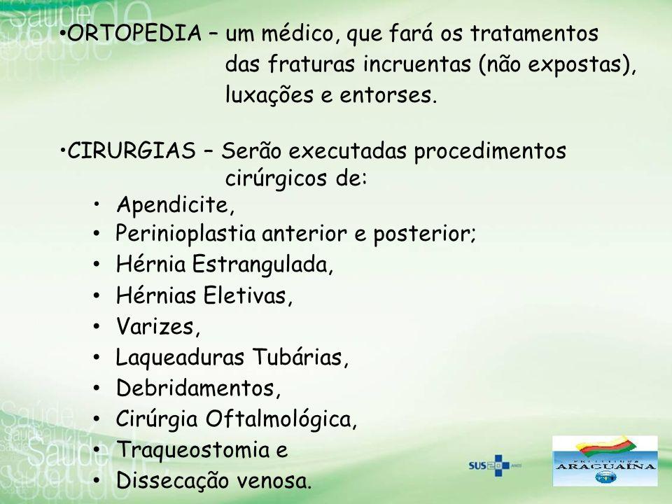 ORTOPEDIA – um médico, que fará os tratamentos