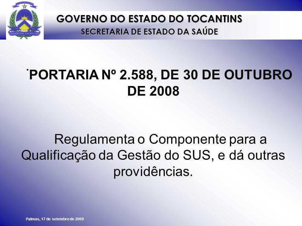 PORTARIA Nº 2.588, DE 30 DE OUTUBRO DE 2008