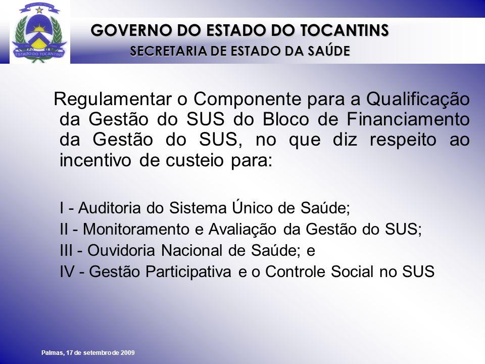 I - Auditoria do Sistema Único de Saúde;