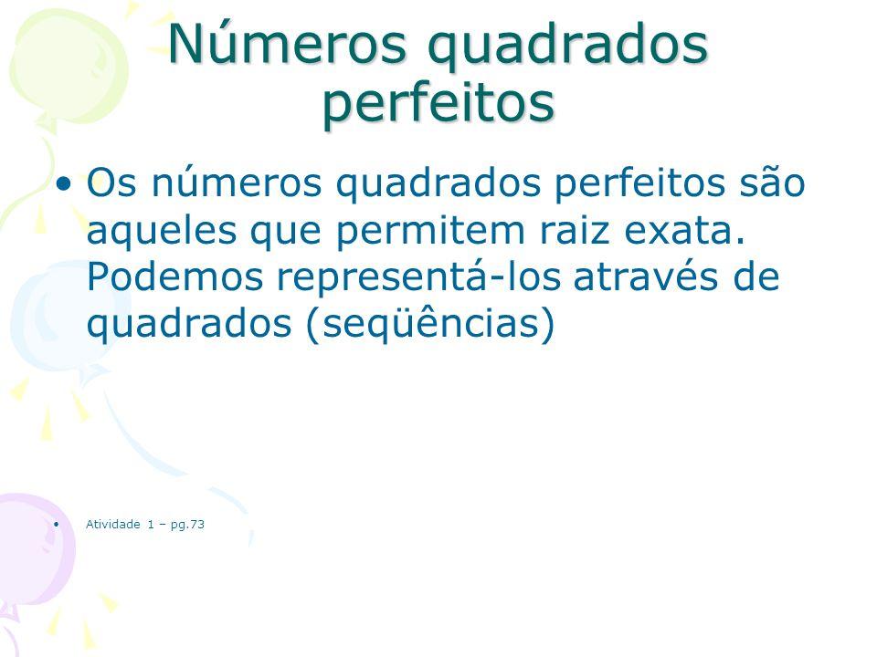 Números quadrados perfeitos