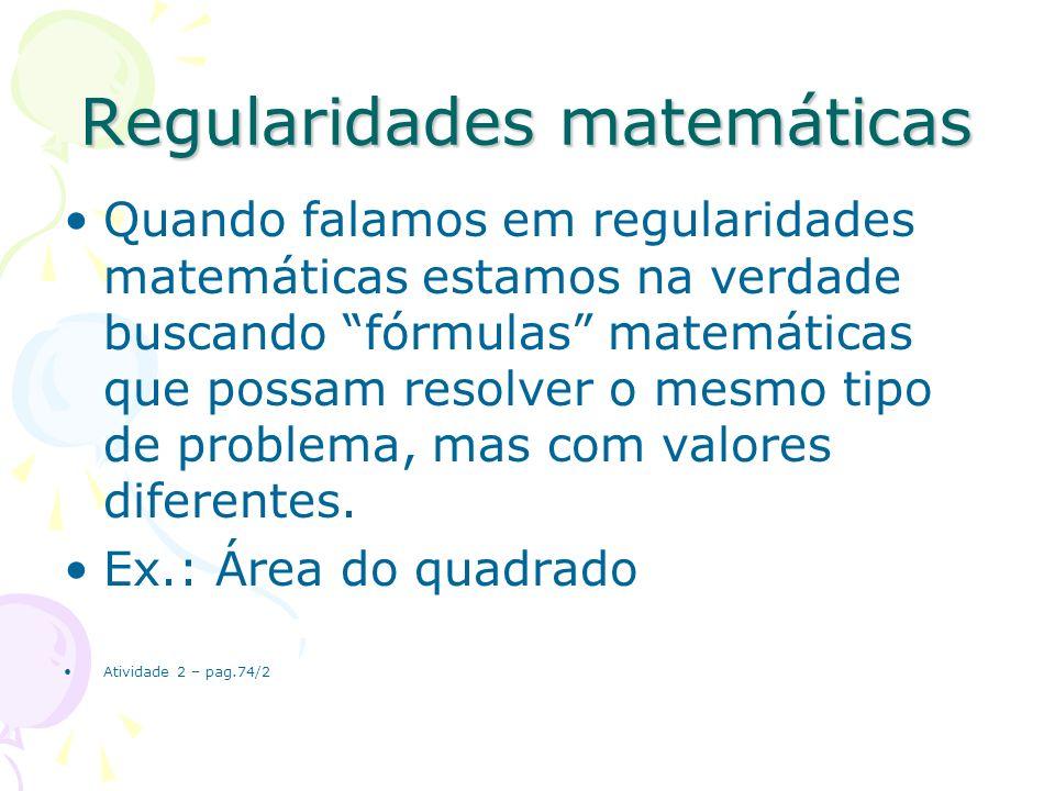 Regularidades matemáticas